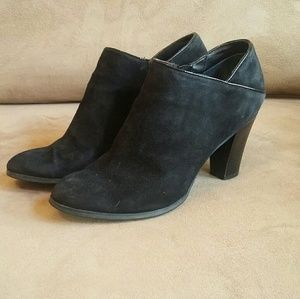 Suede heeled booties GUC